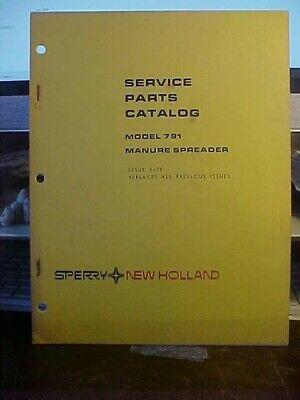 Nh Service Parts Catalog - Manure Spreader Issue 1-79 1j