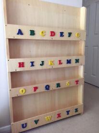 Slim bookcase (with alphabet)