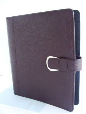 New Monarchfolio 1 Rings Burgundy Pebbled Leather Day-timer Plannerbinder