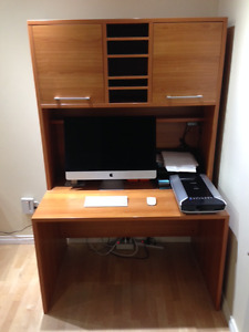 Desk, office and hutch
