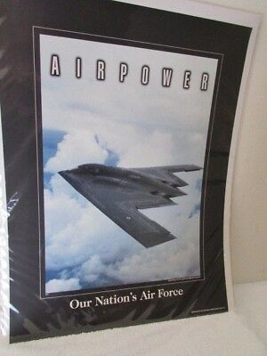 Quality USAF Airpower Northrop B2 Stealth Bomber Poster Mint