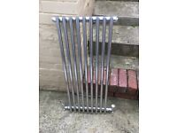 2 Chrome vertical column radiators