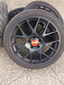 BBS Motorsport Rims with rubber