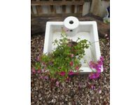 WHITE SQUARE SINK FOR GARDEN PLANTERS POTS