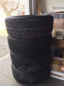 Studded winter tires on winter rims, P235/50R18