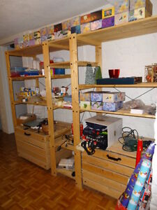 Wood Shelving for the Basement/Garage