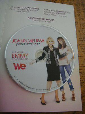 JOAN & and MELISSA Joan Knows Best EMMY DVD Joan Rivers WE TV Reality