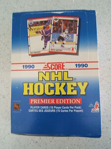 1990 Score Hockey Box 36 Packs,15 Cards per Pack Tons of RC's