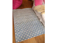 Cath Kidston classic pale blue with white spots rug never used