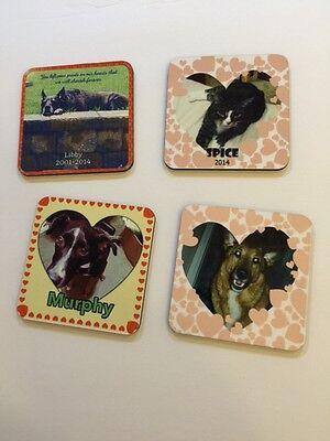 Set Of 4 Custom coaster set,  photo coasters , Gift set , Personalized Coasters. - Personalized Photo Coasters