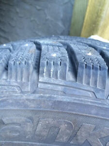 4 Hankook Studded Winter Tires + spare