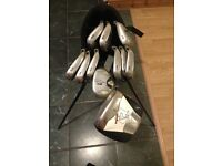 Calloway X-22 Graphite Iron Set 3-SW, FTI Driver and Callaway stand bag