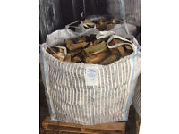 Logs/firewood for sale. Cubic metre bags of hardwood. Free delivery to local area.