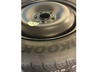 "5 stud Hankook Ford Spare Tyre 125/90 R16 with steel rim - new! Ford Focus 16"" 17"""