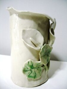 POTTERY CLAY calla lily VASE signed BEAUTIFUL Kitchener / Waterloo Kitchener Area image 4