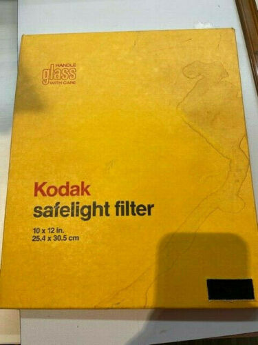 "Kodak OC Amber 10x12"" For Photo Darkroom  - Wratten in Glass 152 1699"