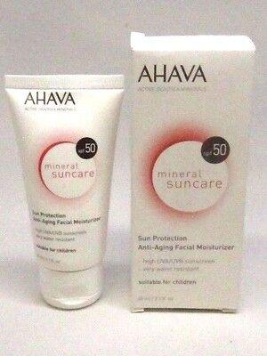 AHAVA Mineral Suncare Sun Protection Anti-Aging Facial Moisturizer SPF 50 IN BOX