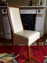 High back leather dining chairs Mosman Mosman Area Preview