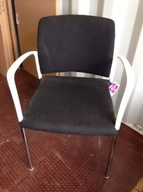 2nd Hand Chair - Black and white Meeting Chair £9.00