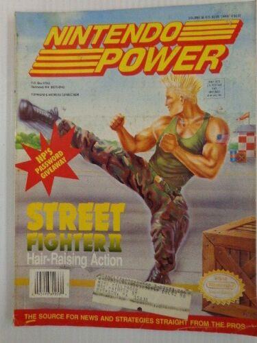 VINTAGE NINTENDO POWER MAGAZINE VOL.38 JULY 1992 STREET FIGHTER II