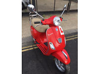 2014 3V Piaggio Vespa LX 125 lx125 in Dragon Red great condition