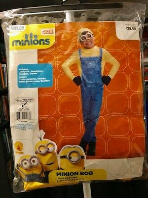 RUBIES MINIONS BOB COSTUME TODDLER CHILD HALLOWEEN 3-4 YRS NEW RETAIL $25 - Toddler Minion Costume