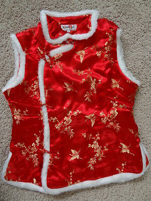 NEW Traditional Chinese New Year Silk Satin Vest Coat Weskit Qipao outfit