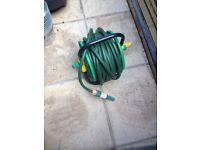 Small garden hose on reel