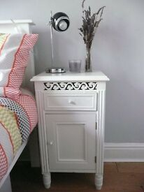 Bedside table French style white wood