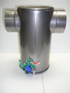 Abgasschalldämpfer Edelstahl 130 mm Heizung Rauchrohr T-Form Schalldämpfer Rohr