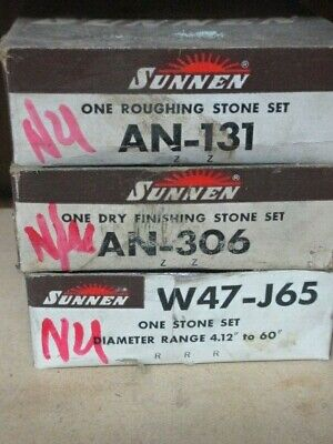 3 Sets Nos Sunnen Honing Stones Includes An-131 An-306 W47-j65