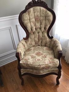 Antique Parlour Chair - Mint Condition