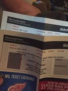 2 Tickets for Sale - Toronto Maple Leafs vs Detroit Red Wings