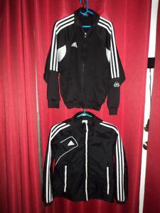 2 small adidas spring jackets