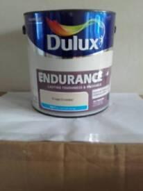 2 X Dulux 2.5 litre Endurance + Crispy Crumble emulsion paint