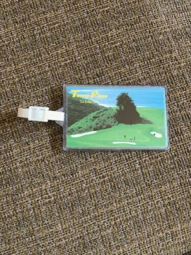 Torrey Pines Bag Tag- Site of 2021 US Open- Made of Strong Acrylic- NEVER USED!