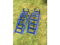 Pair of Halfords Sturdy Steel Car Ramps - good working condition - PRICED TO SELL / NO OFFERS