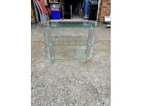 Glass TV stand - can deliver local