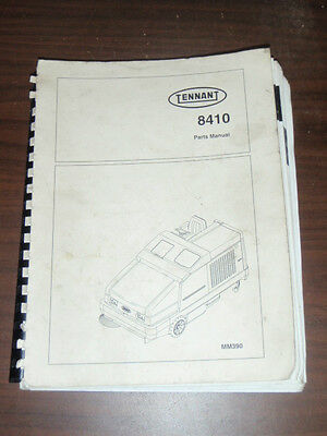 Tennant Model 8410 Commercial Sweeperscrubber Parts Manual Mm390