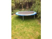 8ft Trampoline with Poles and Enclosure £20
