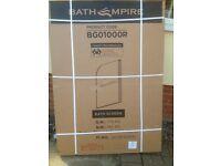New Bath Screen, shower screen with towel rail 1000mm - 4m Straight bath screen