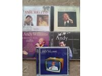 A collection of CDs by the legendary Andy Williams