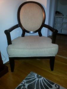 Brown and Espresso Occasional Chair