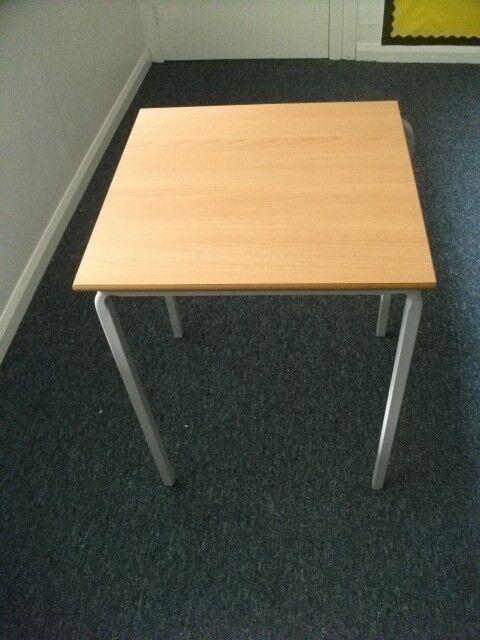 Table for sale . Metal frame .Size : H=75cm , W=60cm , D=60cm .