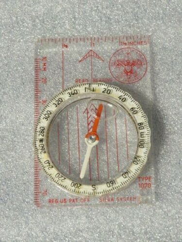 BOY SCOUTS OF AMERICA COMPASS -  SILVA SYSTEM - working - vintage