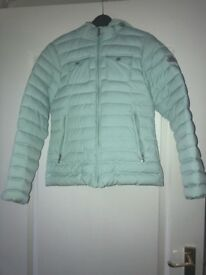 Ladies pyrenex light padded jacket in mint green size 8