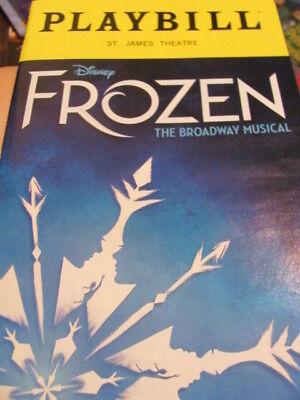 FROZEN Playbill Musical NEW YORK BROADWAY Elsa Anna Olaf NY