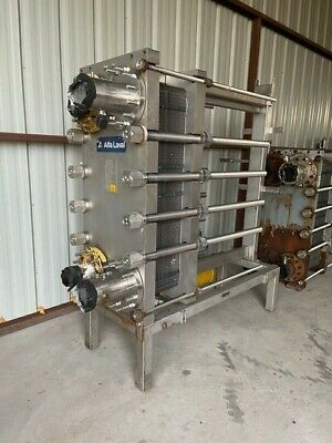 Alfa Laval Mk15-bwfd Stainless Plate Heat Exchanger 435.7sq Ft Used Year 2000