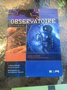 Manuel de Science Observatoire - secondaire 3