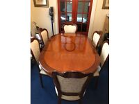Wood Dining Table Set With Sideboard (A1 condition)